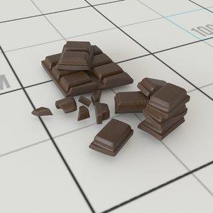 3D chocolate chunks