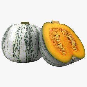 green pumpkin 2 3D