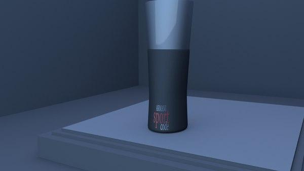 armani toilette 3D model