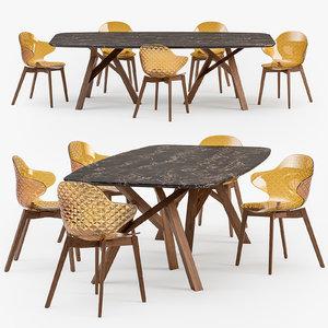 3D calligaris jungle table saint