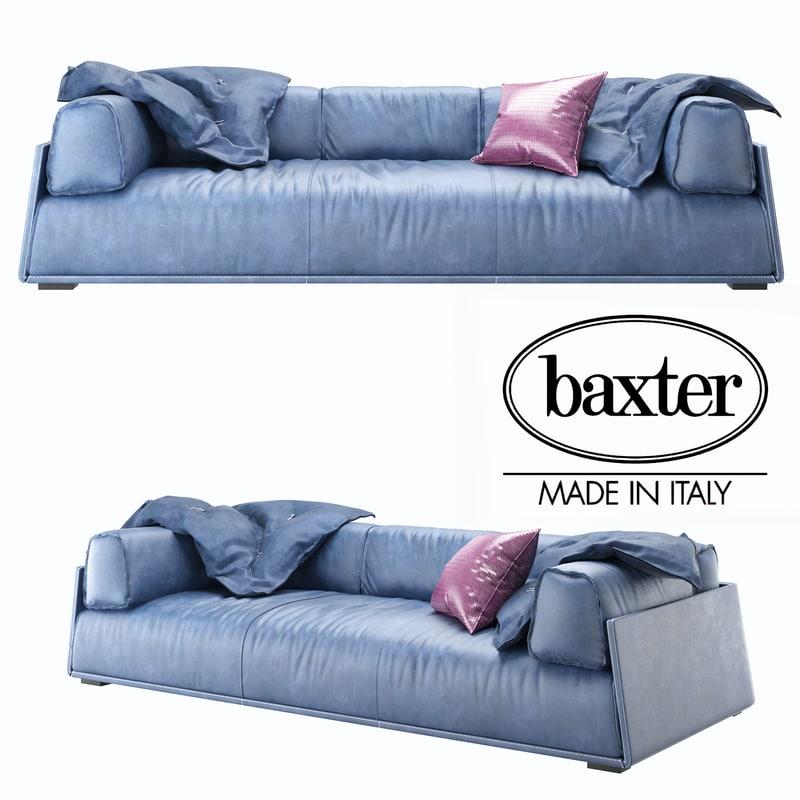3D sofa baxter hard model