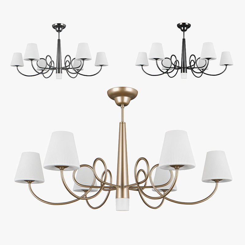 3D chandelier 814073 champagne 814074