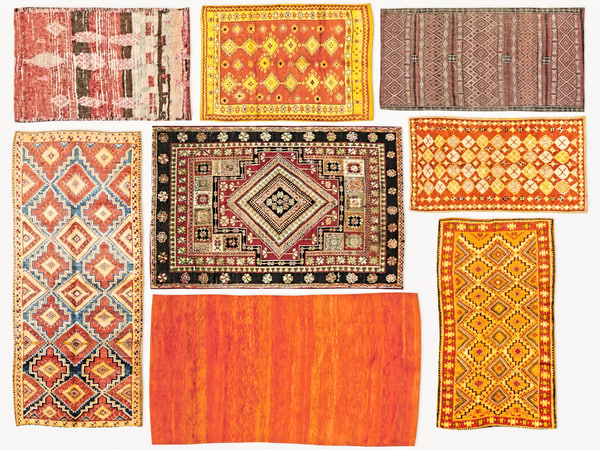 old vintage carpets moroccan 3D
