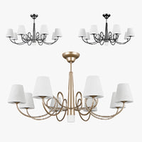 3D chandelier 814093 champagne 814094 model