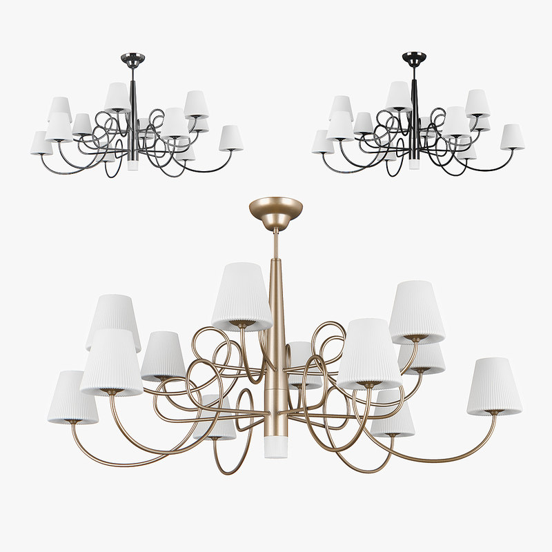 3D chandelier 814133 champagne 814134