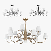 3D chandelier 814133 champagne 814134