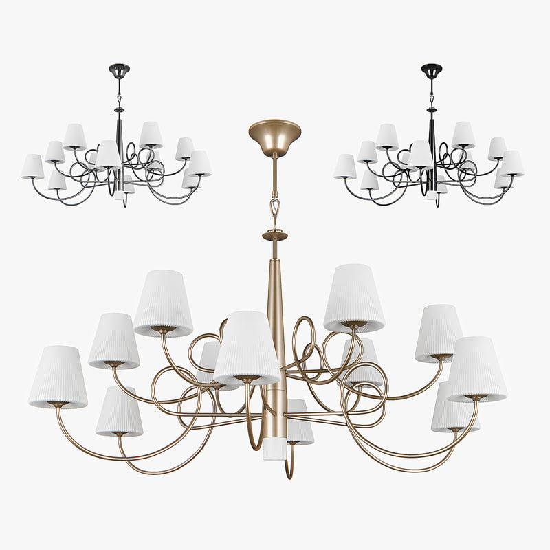 3D chandelier 814333 champagne 814334