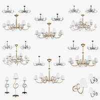 chandelier vortico lightstar lamp 3D