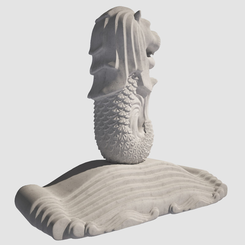 singapore merlion 3D model