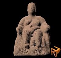3D statue catal hoyuk