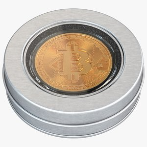 bitcoin coin souvenir box 3D model