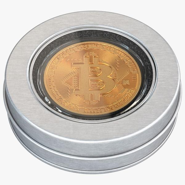 bitcoin coin souvenir box 3D model