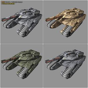3D model scifi tank mx1 sf