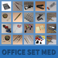 office set medium 3D model