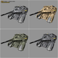 3D scifi tank mx2 sf