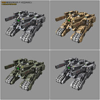 scifi drone tank mx5 3D