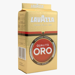 lavazza oro coffee packaging 3D model
