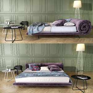 3D model bonaldo blanket bed