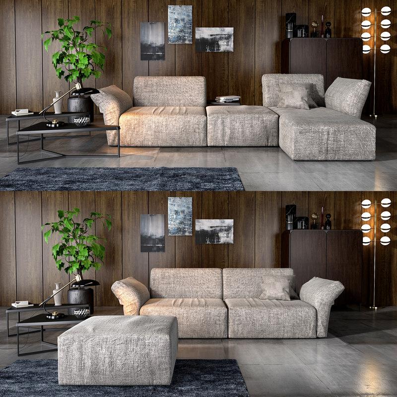 bonaldo cortina sofa 3D model
