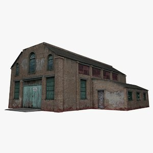 3D model old warehouse house