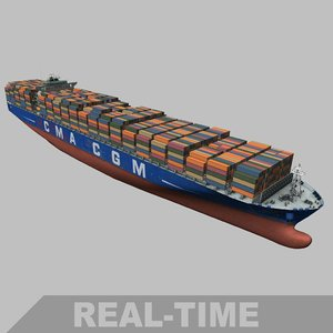 real-time new panamax vtel 3D model