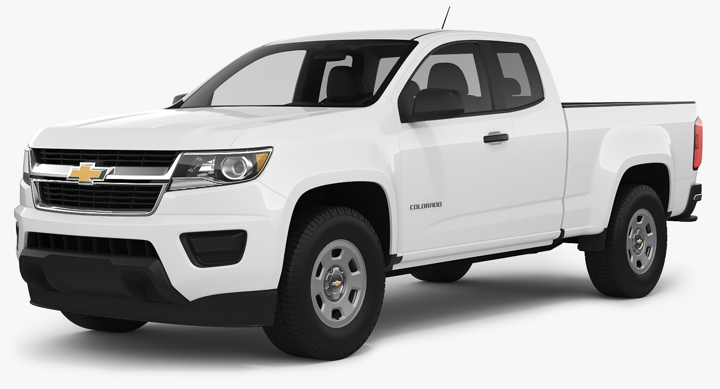 3D chevrolet colorado 2018 extended model