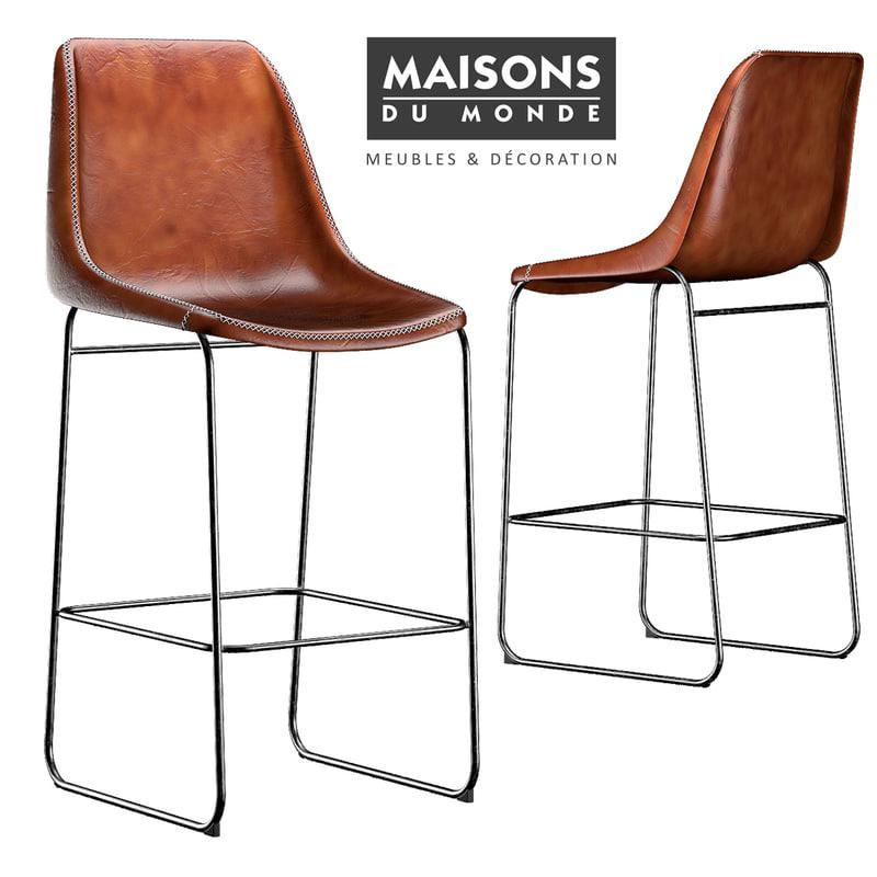 3D waterloo chair model