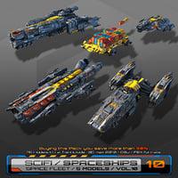 3D 5 low-res spaceships