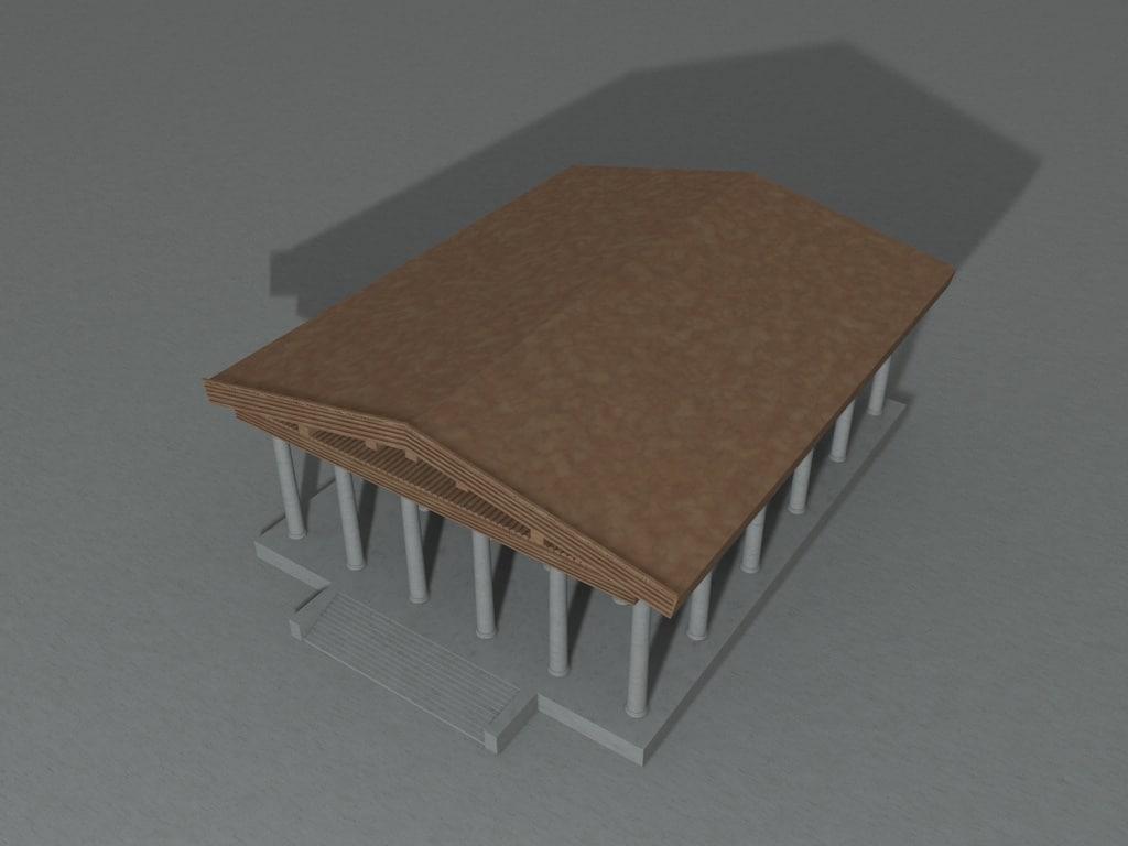 3D model roman temple