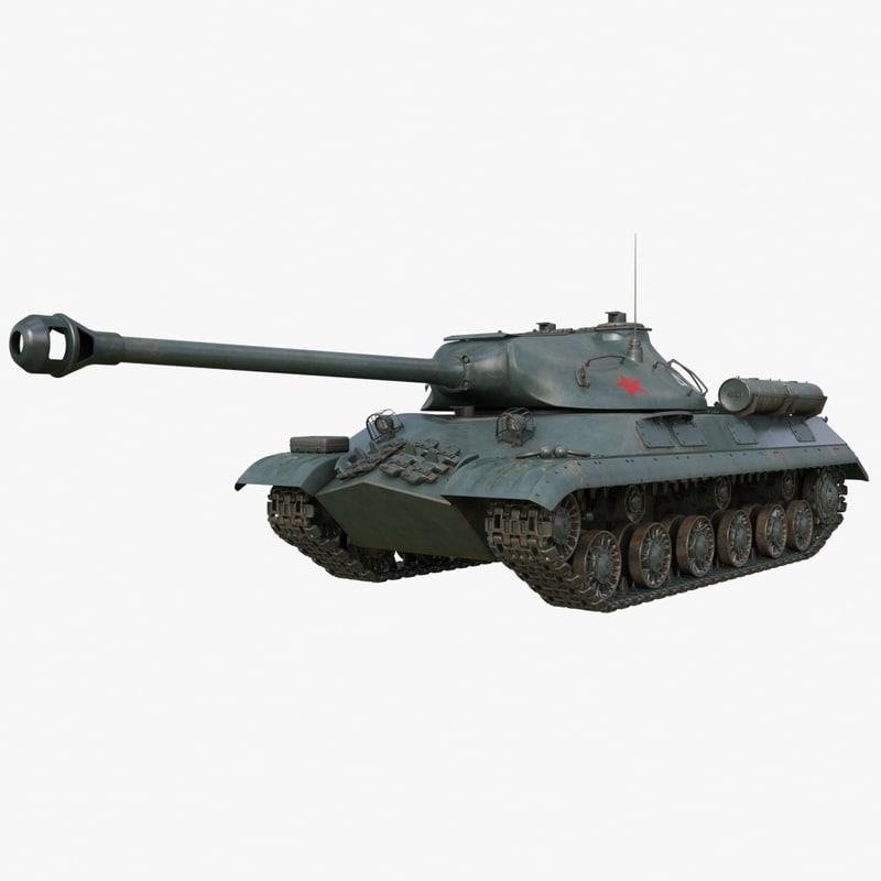 3D tank 3m soviet model