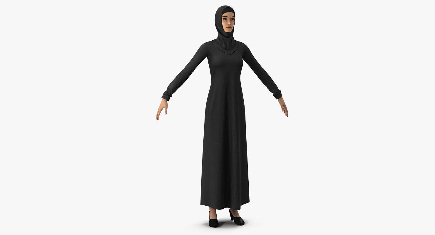 arab young women 3D model