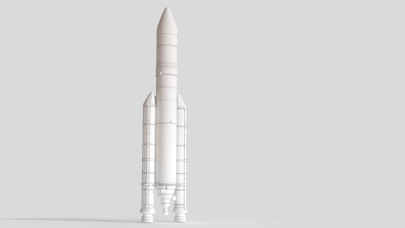 3D model ariane 5 eca rocket