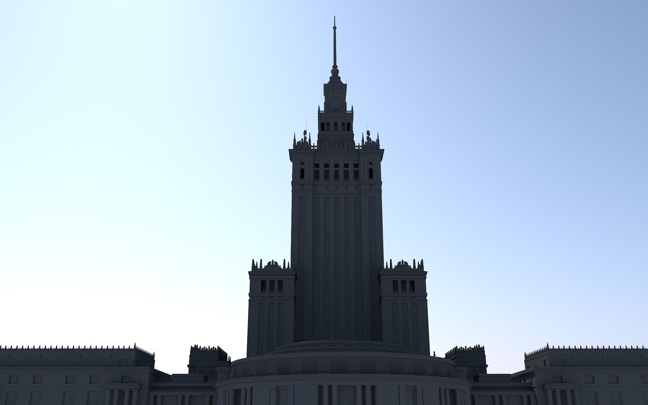 palace culture science warsaw 3D model