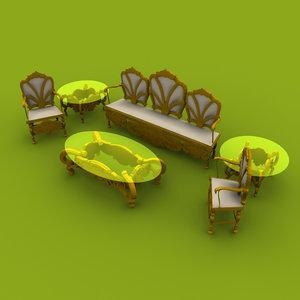 3D chinioti sofa