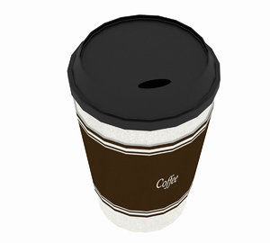 3D cap coffee model