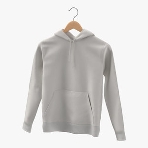 3D male standard hoodie hanging model