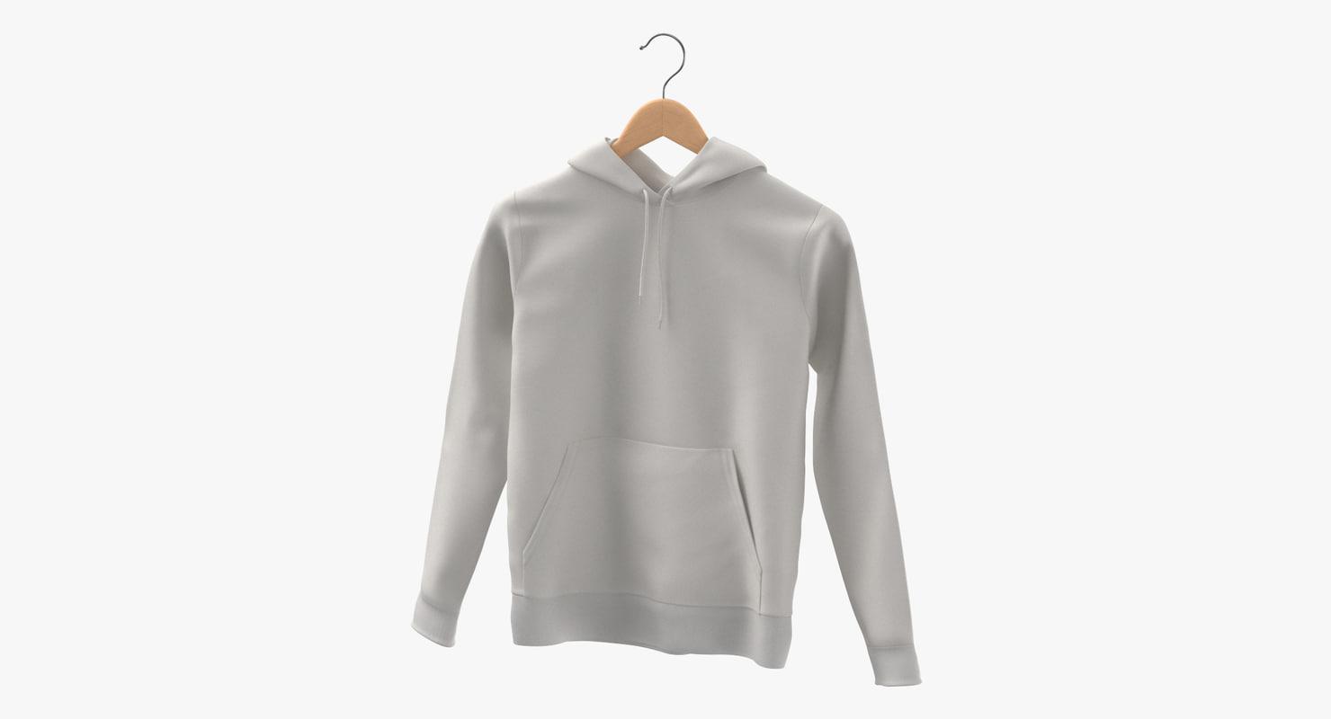 3D male standard hoodie hanging model