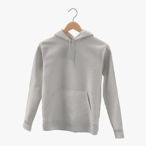 3D male standard hoodie hanging