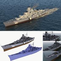 3D model ship battleship