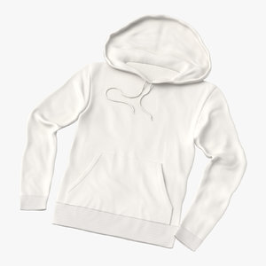 3D male standard hoodie laid