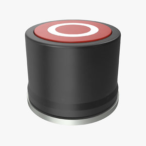 3D button 01 red