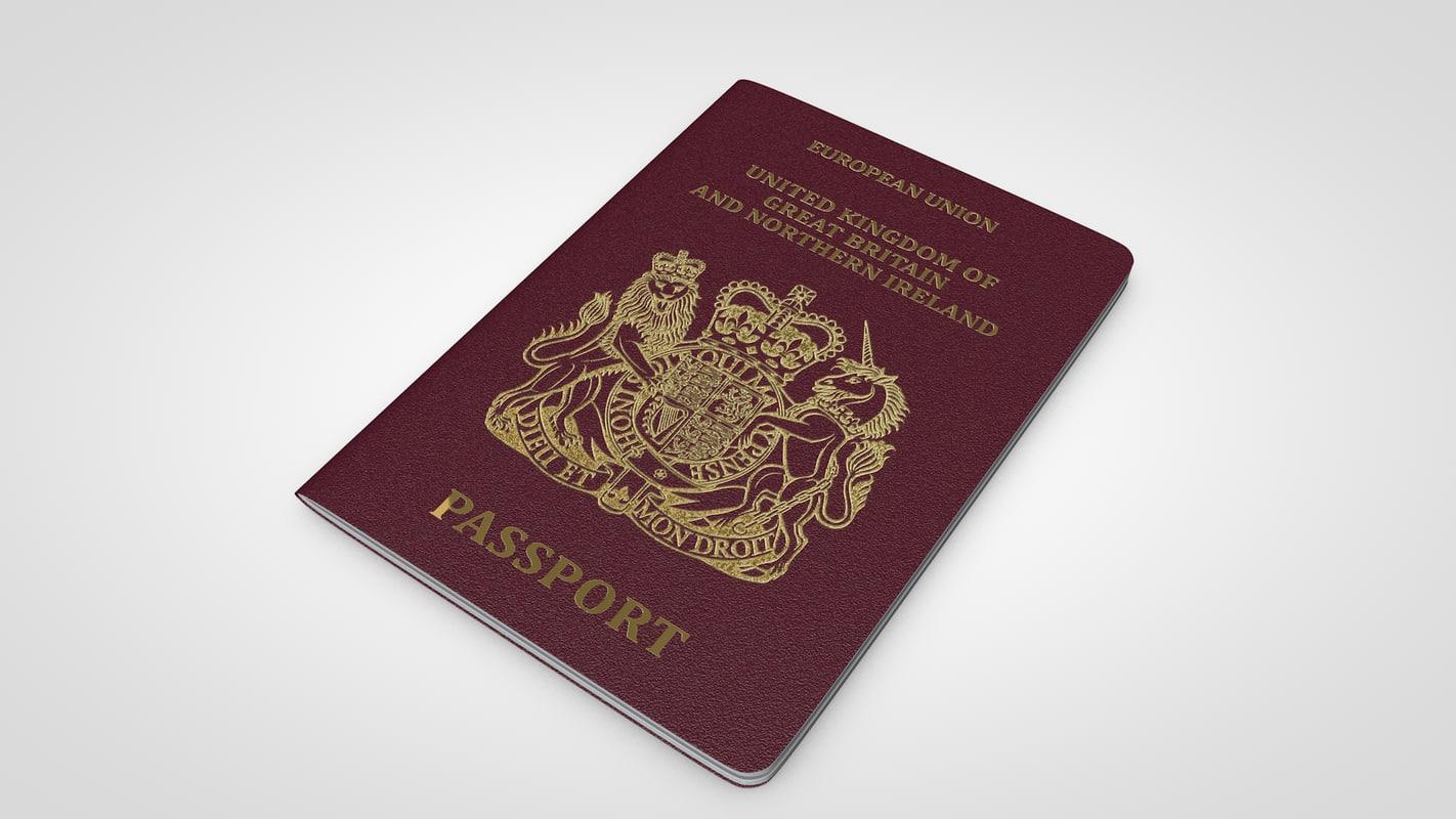 uk passport 3D model