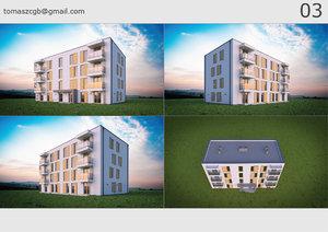3D building 03 house model