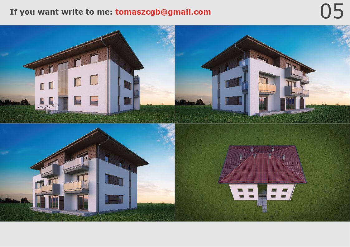 Building House Model Turbosquid