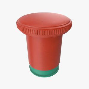 3D button 01 04 model