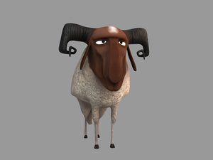 3D model sheep - -3ds
