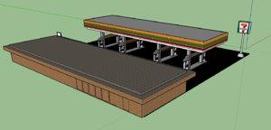7 gas-station 3D model