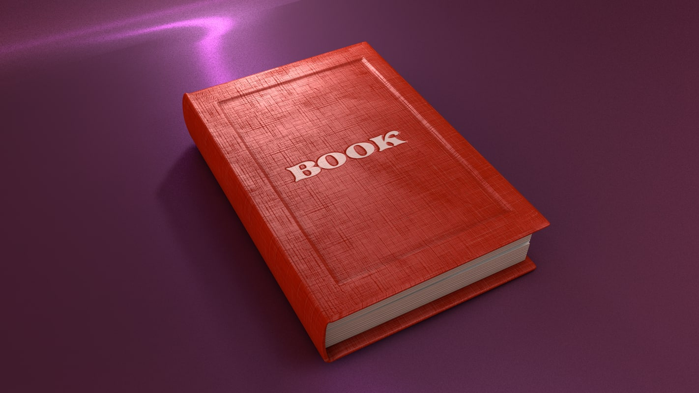 3D book rigged model