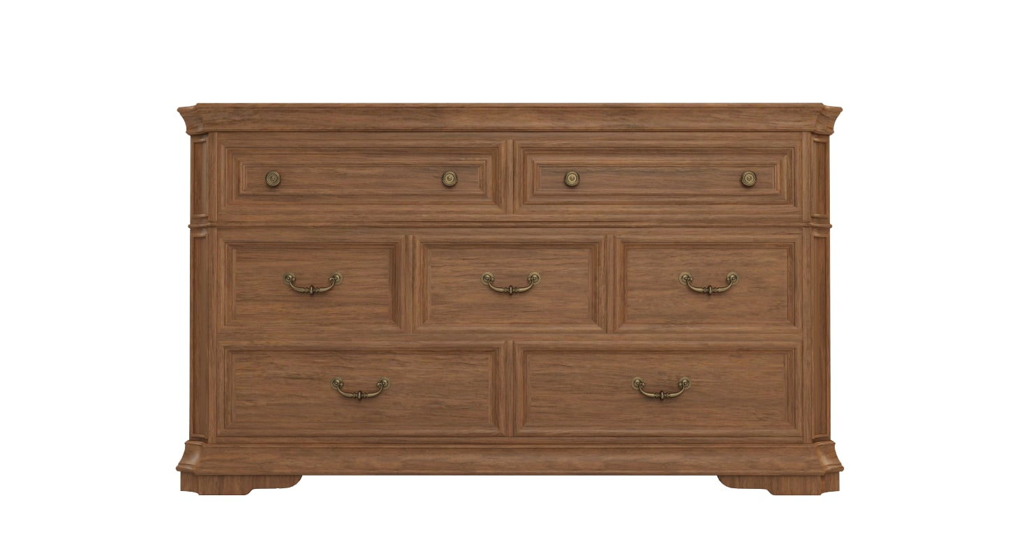7 drawer dresser 3D