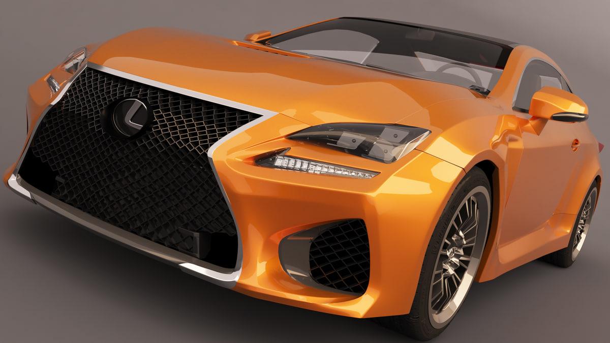 3D 2015 lexus rc